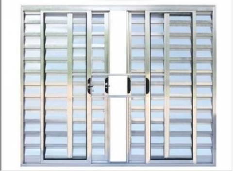 Janela Venezia em Alumínio Brilhante 6 Folhas sem Grade 1,00 - Casa Sul Materiais e Acabamento
