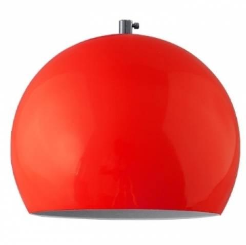 Pendente Vertical Iluminação Big Ball Vermelho - Casa Sul Materiais e Acabamento