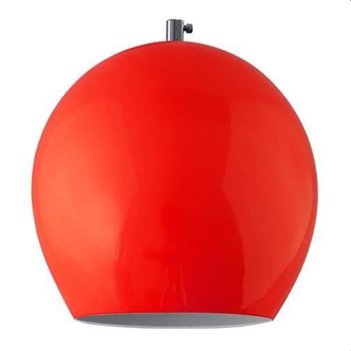 Pendente Vertical Iluminação Medium Ball Vermelho - Casa Sul Materiais e Acabamento