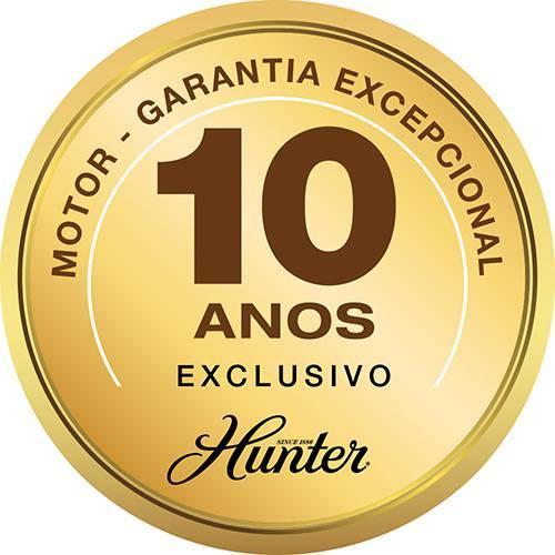 Ventilador Teto Hunter Contempo Níquel 5 Pás Nogueira/Cerejeira Controle Remoto 127.v - Casa Sul Materiais e Acabamento
