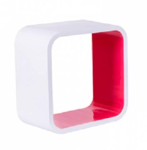 Nicho Quadrado Plástico Astra 26 x 26 x 20.cm Rosa - Casa Sul Materiais e Acabamento