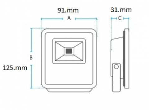 Refletor Cob Led Avant  10.w 6400K Luz Branca - Casa Sul Materiais e Acabamento
