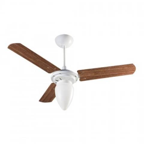 Ventilador Teto Wind Branco 3 Pás Mogno  127.V - Casa Sul Materiais e Acabamento