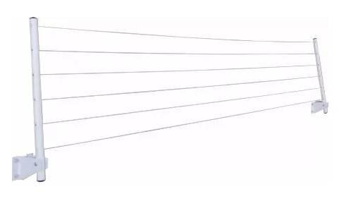 Varal Parede Articulado Petromix Branco - Casa Sul Materiais e Acabamento