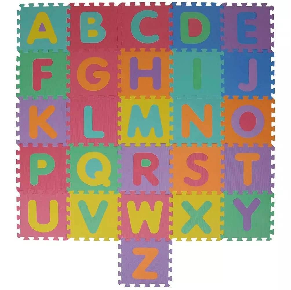 Tatame Em Eva Tapete De Atividades Colorido Alfabeto 26 Peca - Casa Sul Materiais e Acabamento