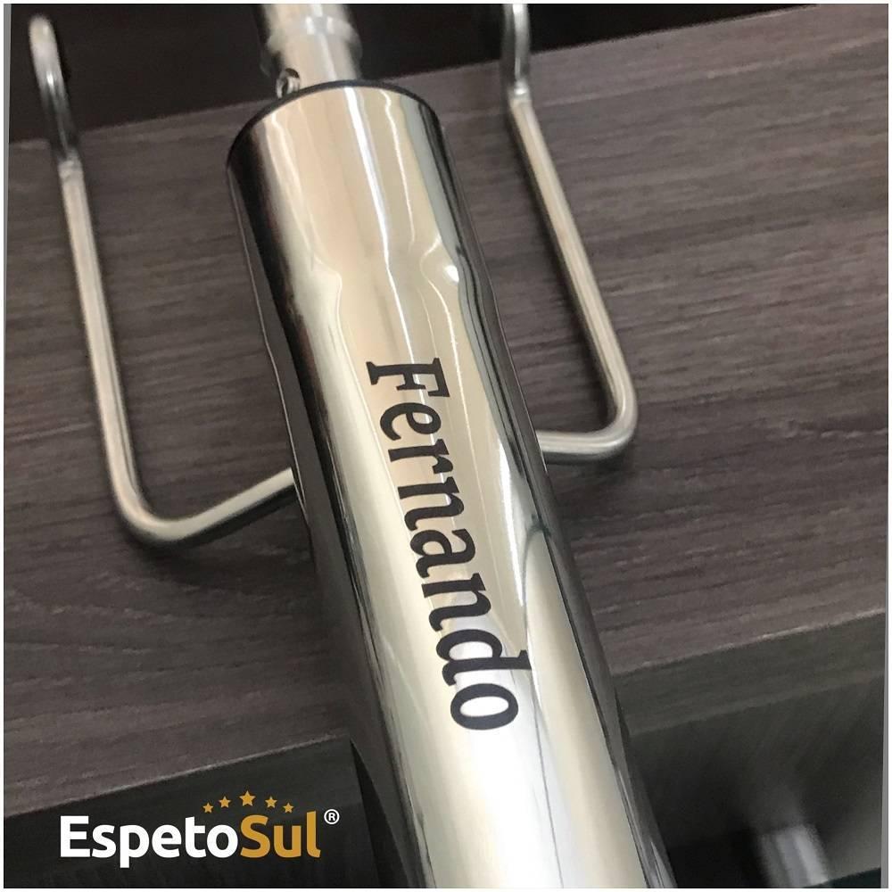 Personalização Laser - Grave seu Nome no Espeto Giratório Espetosul - EspetoSul