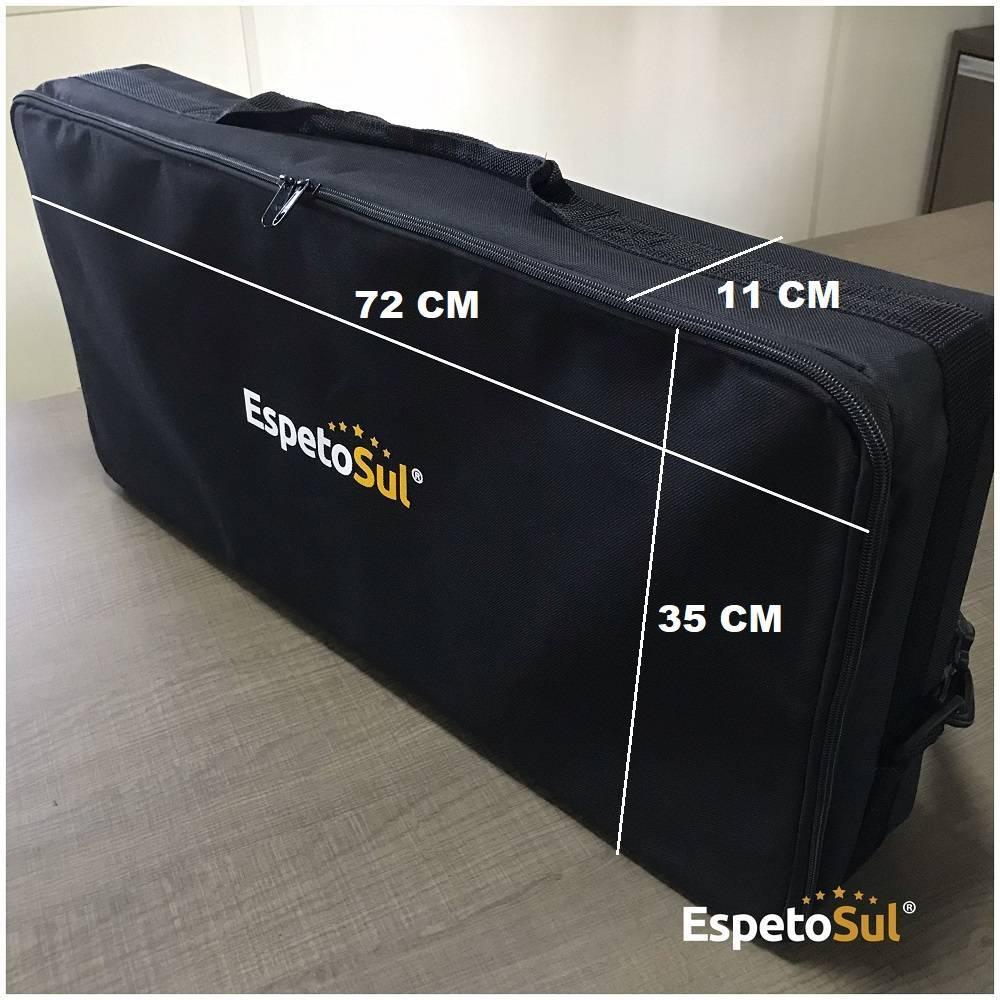 Maleta Espetosul com 5 espetos giratório pilha  - EspetoSul