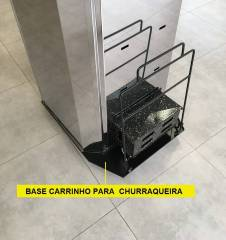 Base carrinho para churrasqueira de assar costela Espetosul