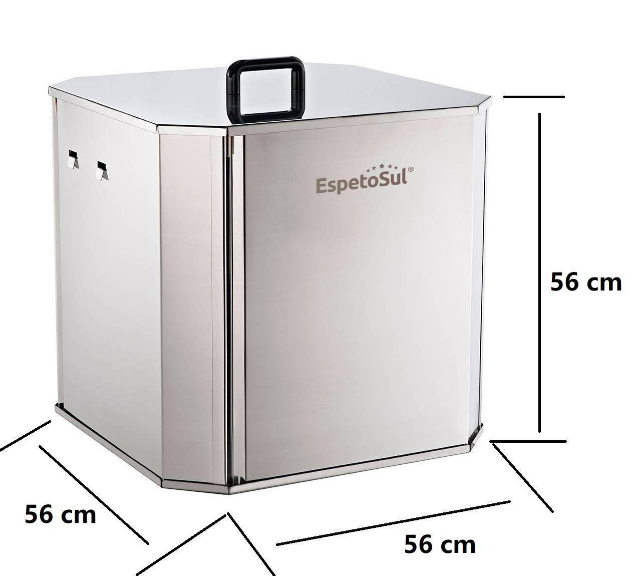Mini churrasqueira portátil inox a carvão para costela 10 kg - EspetoSul