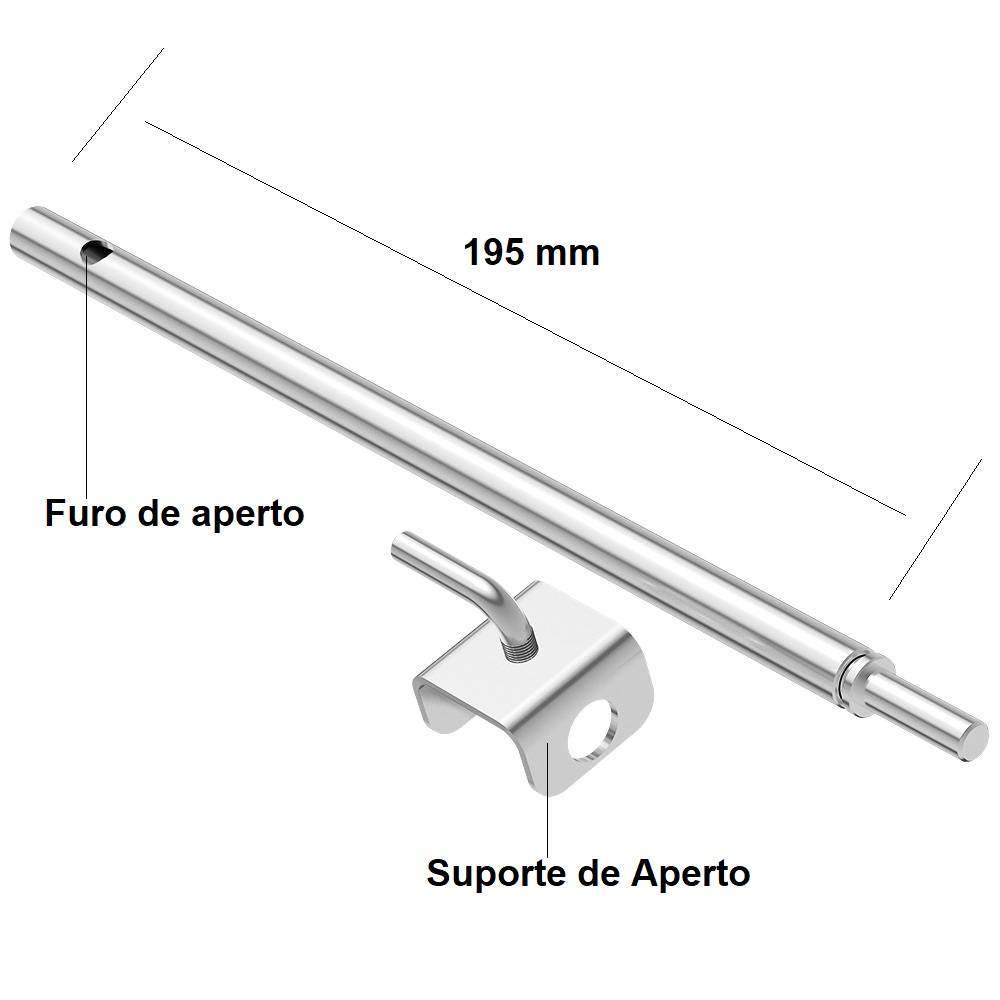Prolongador inox do espeto giratório a pilha Espetosul - EspetoSul