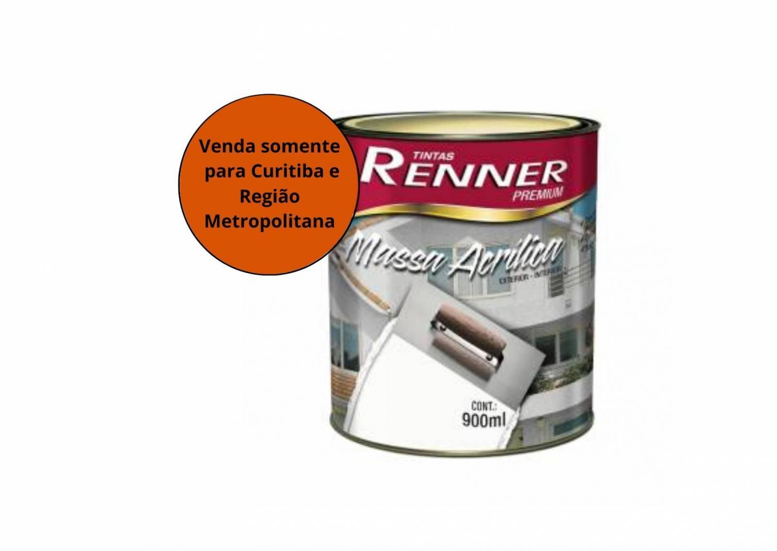 Massa Acrílica 0,9L Renner - MATERGI MATERIAIS DE CONSTRUÇÃO