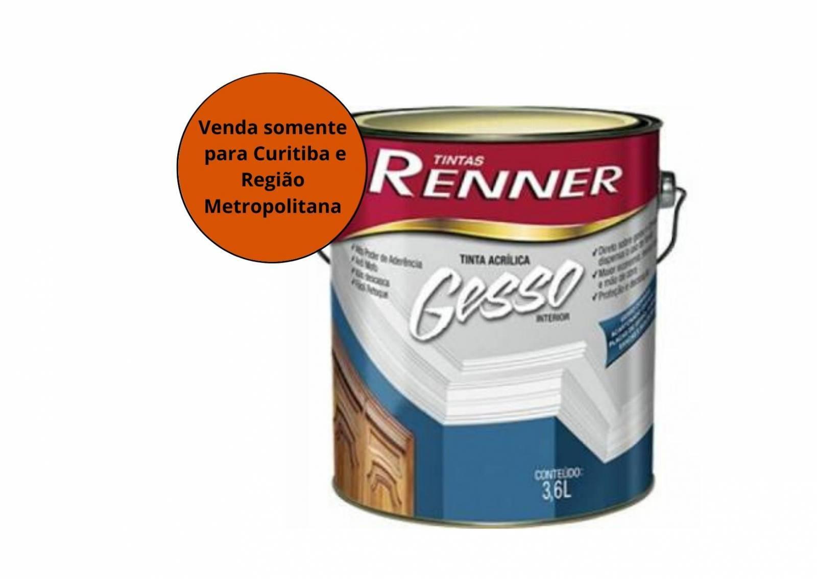 Tinta  Acrílico Gesso Branco Renner - MATERGI MATERIAIS DE CONSTRUÇÃO
