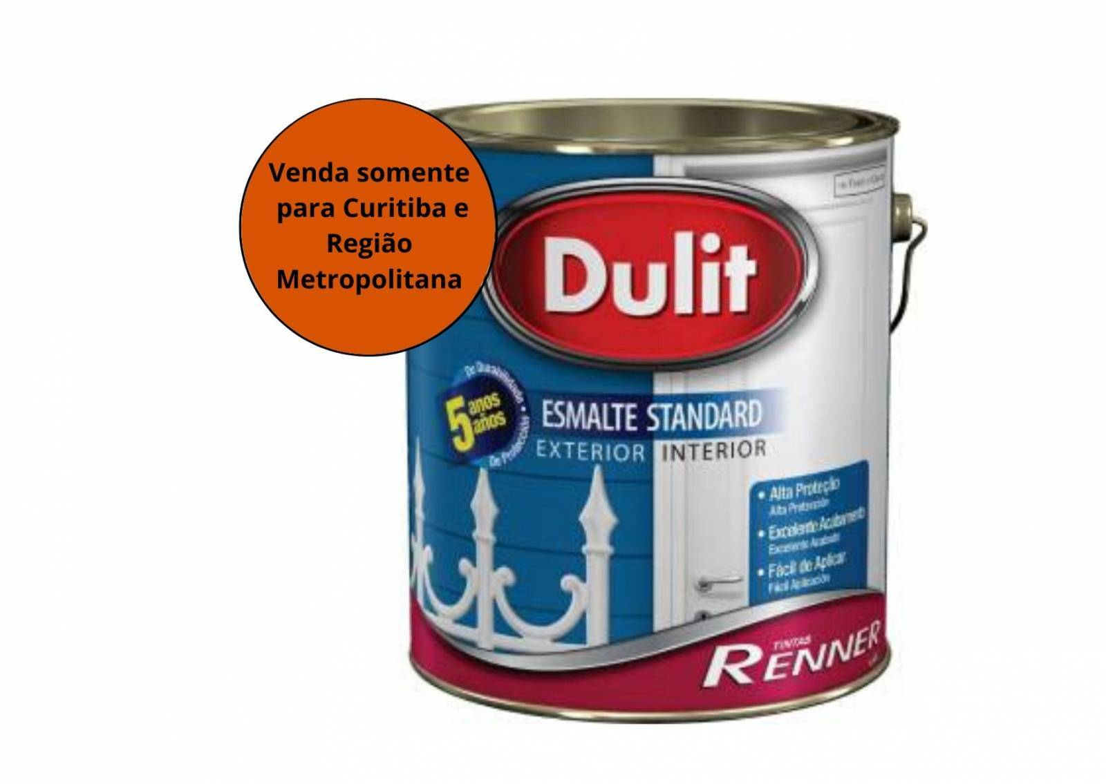 Tinta Esmalte Dulit Branco Acetinado 3,6L Renner - MATERGI MATERIAIS DE CONSTRUÇÃO