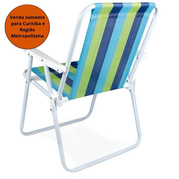 Cadeira de Praia Alta Mor - MATERGI MATERIAIS DE CONSTRUÇÃO