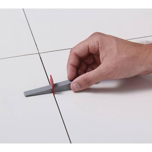 Espaçador Nivelador Slim 2,0 mm   - MATERGI MATERIAIS DE CONSTRUÇÃO