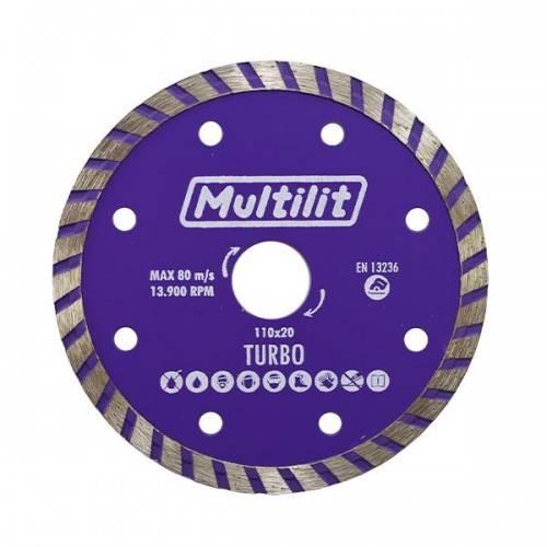 Disco Diamantado 110MM Turbo Multilit - MATERGI MATERIAIS DE CONSTRUÇÃO