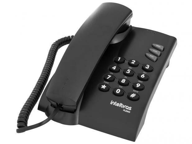Telefone com Fio Pleno Preto Intelbras - MATERGI MATERIAIS DE CONSTRUÇÃO