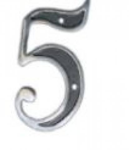 Número Cinco Colonial Alumínio - MATERGI MATERIAIS DE CONSTRUÇÃO