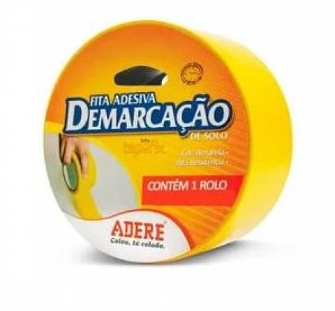 Fita Demarcação 50MMX30M Amarela Adere - MATERGI MATERIAIS DE CONSTRUÇÃO