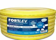 Eletroduto Corrugado Flexível 25MM Amarelo 50mt  Fortlev