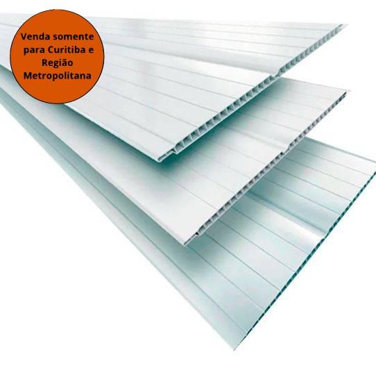 Forro PVC 6MM 6MT Branco Gelo Segunda Linha - Fortplast - MATERGI MATERIAIS DE CONSTRUÇÃO