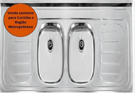 Pia Inox 1,60X0,545M Dupla Franke - MATERGI MATERIAIS DE CONSTRUÇÃO