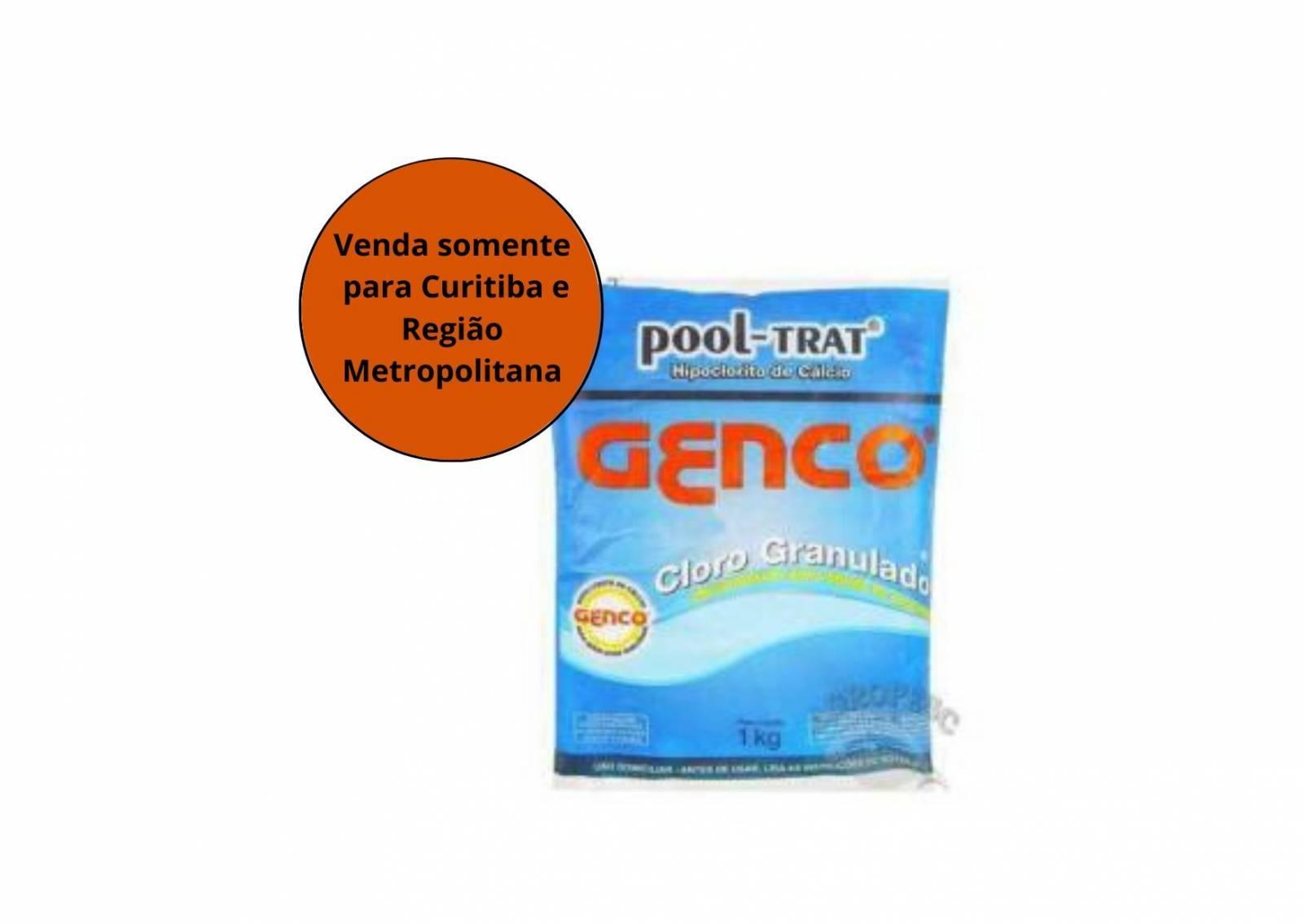Cloro Hipoclorito Pool-Trat Premium 1KG Genco - MATERGI MATERIAIS DE CONSTRUÇÃO
