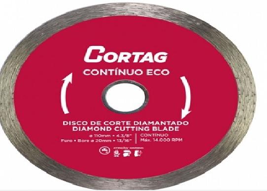 Disco Diamantado 110MM Continuo ECO 61548 Cortag - MATERGI MATERIAIS DE CONSTRUÇÃO