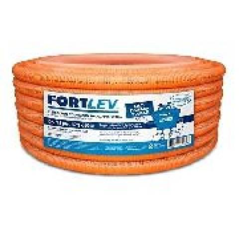 Eletroduto Corrugado Flexível 32MM Laranja 25mt Fortlev - MATERGI MATERIAIS DE CONSTRUÇÃO
