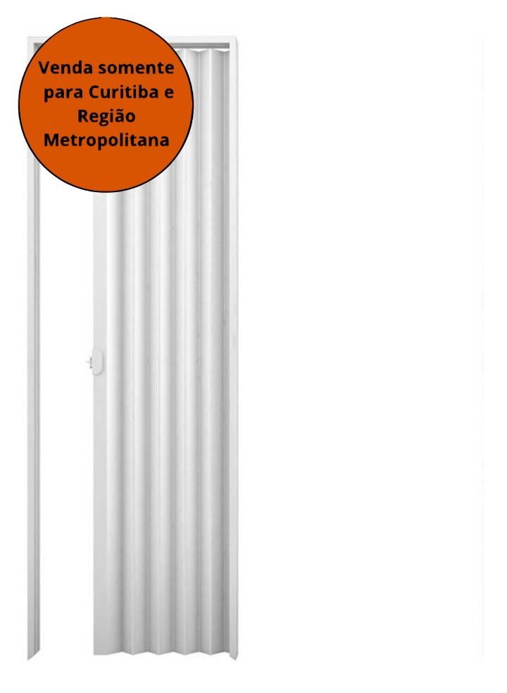 Porta Sanfonada 0,70X2,10 Branca PVC PLASBIL - MATERGI MATERIAIS DE CONSTRUÇÃO