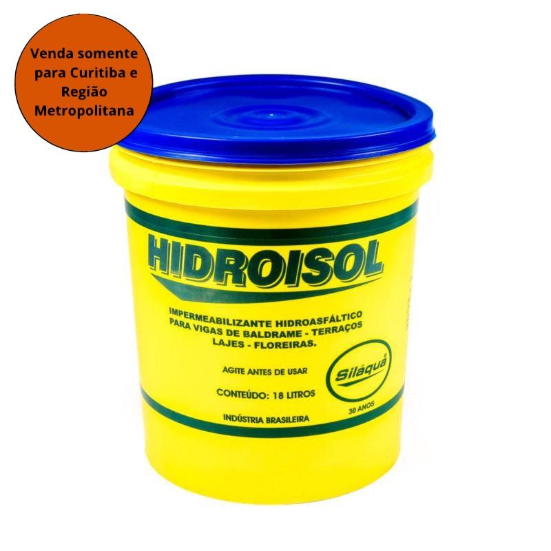 Emulsão Asfaltica Hidroisol 18L SILAQUA - MATERGI MATERIAIS DE CONSTRUÇÃO