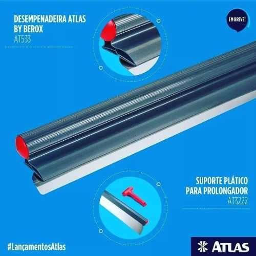 Desempenadeira de aço 60CM AT533 - Atlas - MATERGI MATERIAIS DE CONSTRUÇÃO