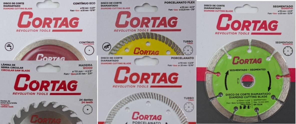 Kit com 5 Discos de Corte - Cortag - MATERGI MATERIAIS DE CONSTRUÇÃO
