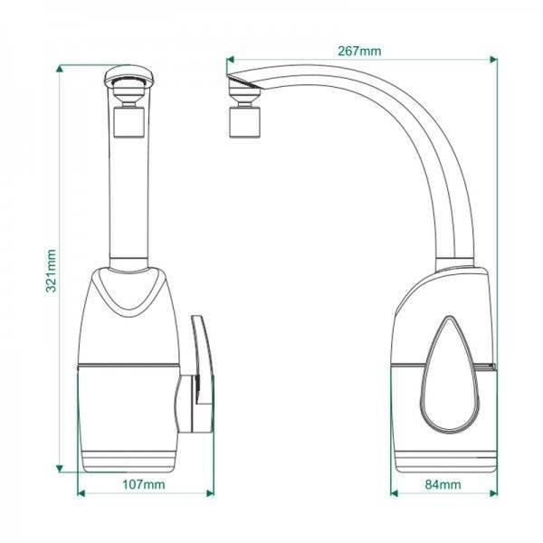 Torneira Elétrica Prima Touch Branca 127V 5500W - Zagonel - MATERGI MATERIAIS DE CONSTRUÇÃO