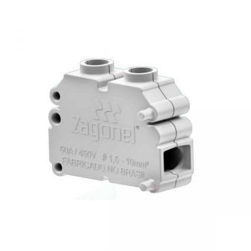 Conector de Cabos Modular (Kit com 3) - Zagonel - MATERGI MATERIAIS DE CONSTRUÇÃO