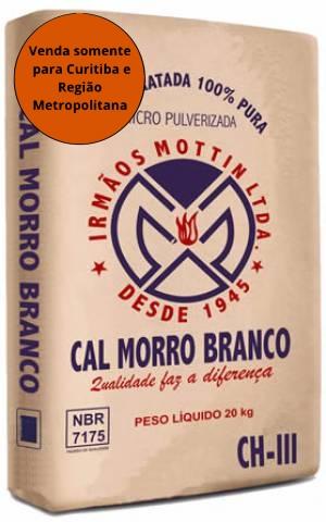 Cal Hidratada CH-III 20KG - Morro Branco - MATERGI MATERIAIS DE CONSTRUÇÃO