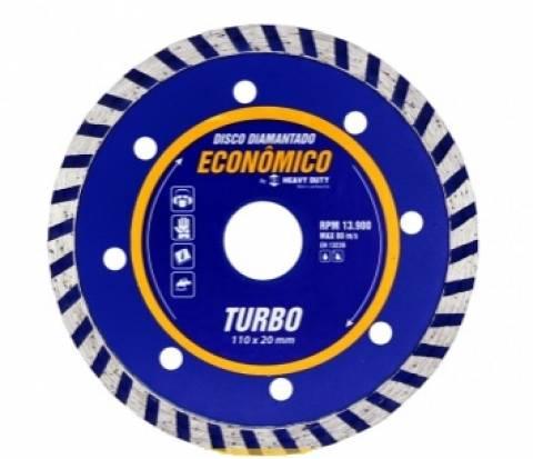 Disco Diamantado Turbo 110MM 122836 - Heavy Duty - MATERGI MATERIAIS DE CONSTRUÇÃO
