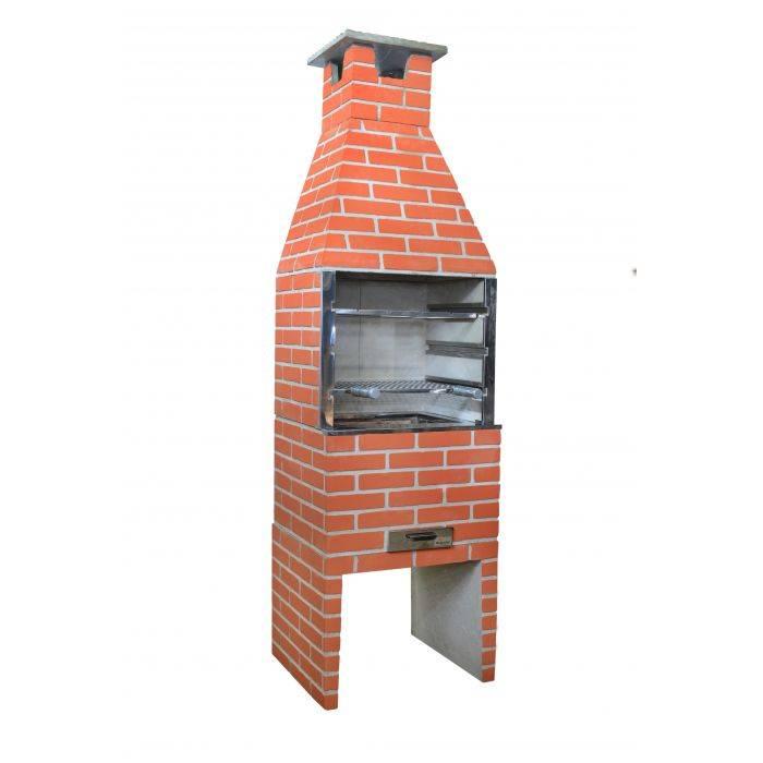 Churrasqueira Concreto Média 65CM Tijolinho Cerâmica - MATERGI MATERIAIS DE CONSTRUÇÃO