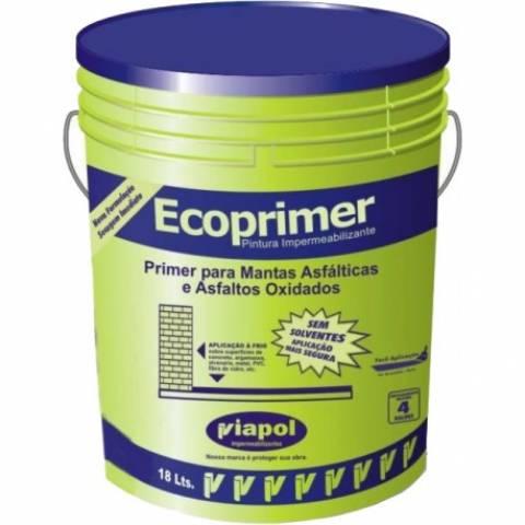 Ecoprimer Balde Plástico 18 Litros - Viapol - MATERGI MATERIAIS DE CONSTRUÇÃO