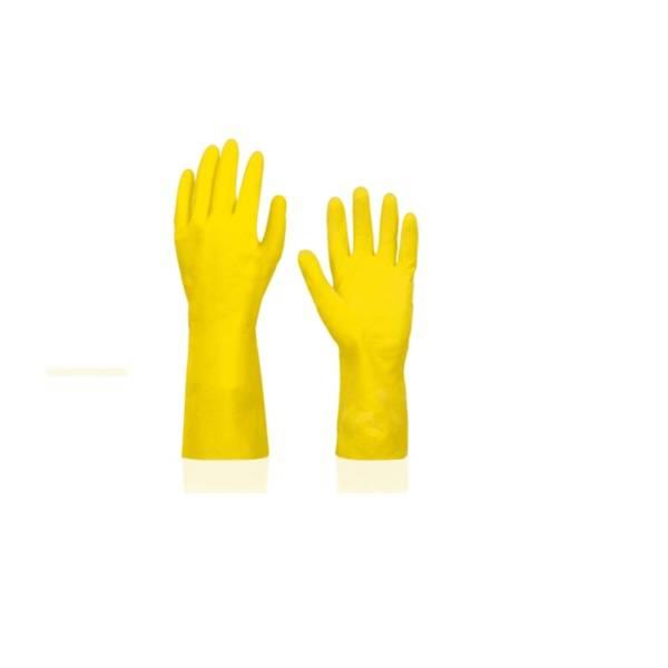 Luva Mão Latex Top Amarela - Sanro - MATERGI MATERIAIS DE CONSTRUÇÃO