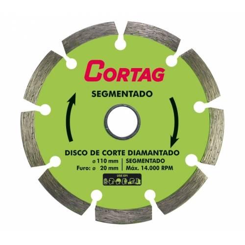 Disco Diamantado Turbo Desbaste 115MM 4.1/2 60973 - Cortag - MATERGI MATERIAIS DE CONSTRUÇÃO