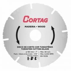 Disco para Madeira 180MM Serra Marmore 61346 Cortag