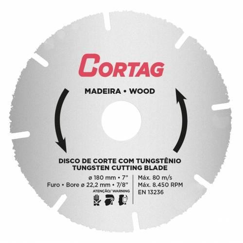 Disco para Madeira 180MM Serra Marmore 61346 Cortag - MATERGI MATERIAIS DE CONSTRUÇÃO