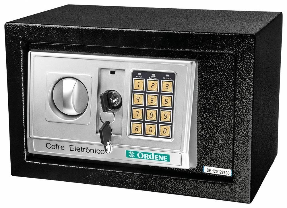Cofre Eletrônico Preto OR38100 - ORDENE - MATERGI MATERIAIS DE CONSTRUÇÃO