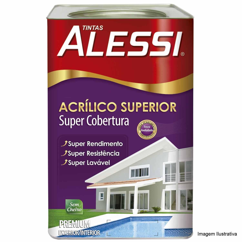 Tinta Acrílica Superior Premium Fosco Branco 18L - Alessi - MATERGI MATERIAIS DE CONSTRUÇÃO