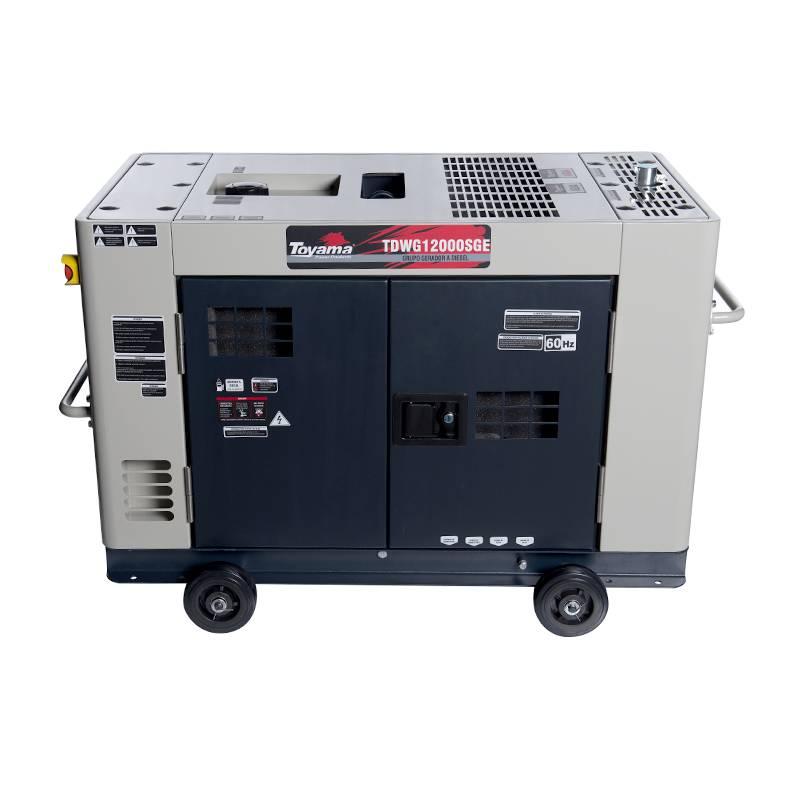 Gerador Toyama TDWG12000SGEDiesel 10KVA Partida Elétrica - MATERGI MATERIAIS DE CONSTRUÇÃO