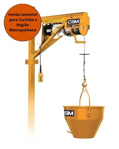 Guincho de Coluna 200KG Prof S/Caçamba 50L 110/220 CSM - MATERGI MATERIAIS DE CONSTRUÇÃO