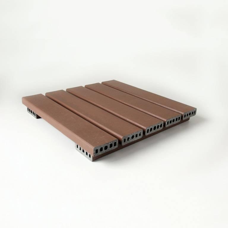 Deck 50x50 cm modular texturizado jatobá In Brasil  - MATERGI MATERIAIS DE CONSTRUÇÃO
