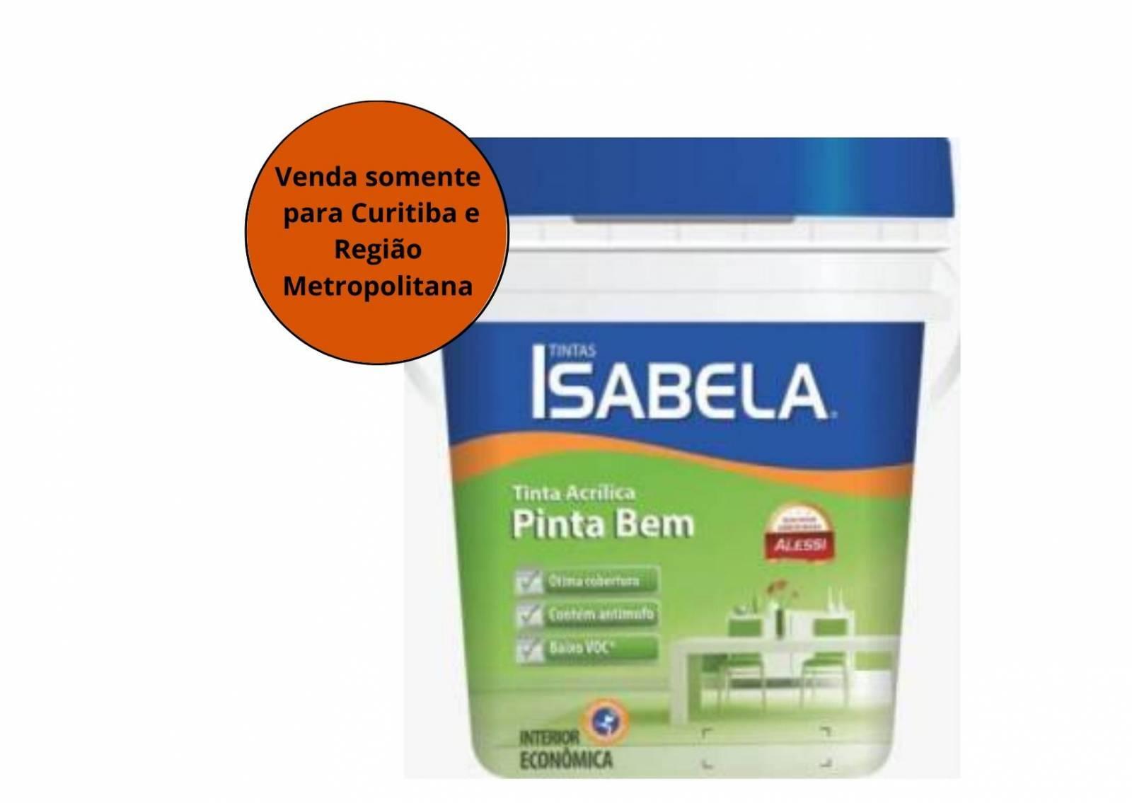 Tinta Acril Econômica Isabela Branco 18L - Alessi - MATERGI MATERIAIS DE CONSTRUÇÃO