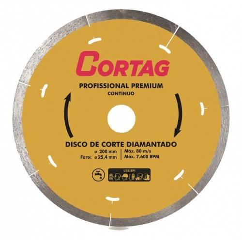 Disco diamantado 200mm Continuo Premium Cortag - MATERGI MATERIAIS DE CONSTRUÇÃO